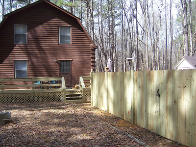 Smthfield wood fence privacy